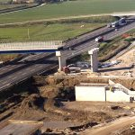 Aerial photos of the construction of the high speed railway line.